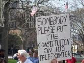Constitution For Obamas Teleprompter