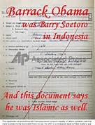 Obama Indonesian Document