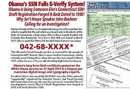 Obama Failed E-Verify