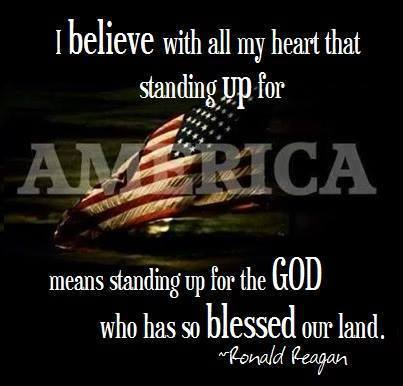 Ronald Reagan Standing Up For America