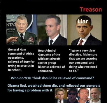 Who Should Be Relieved Of Command Benghazi